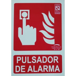 PLACA PVC FOTOLUM.210X297 PULSADOR DE ALARMA